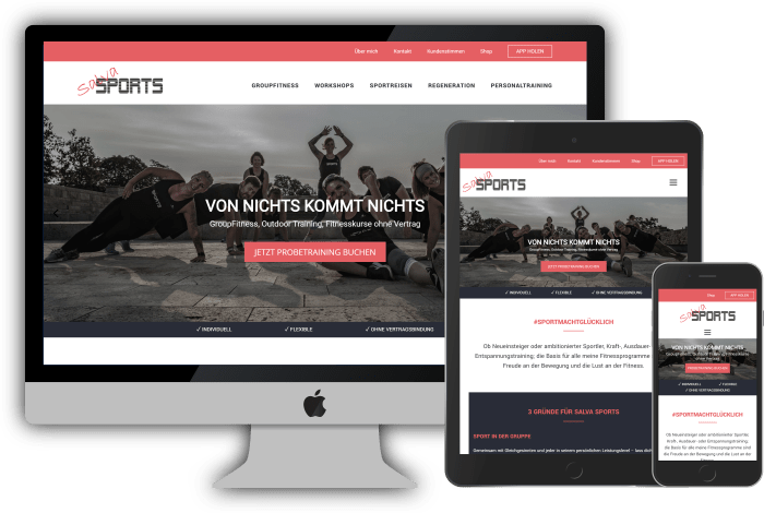 Salva Sports - Wordpress Webdesign